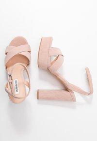 Even&Odd Wide Fit - LEATHER - Sandaler med høye hæler - nude - 3