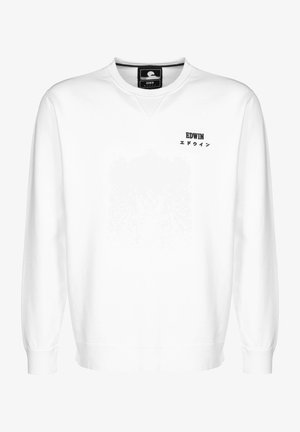 SWEATER BASE CREW - Sweatshirt - white