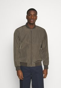 Burton Menswear London - CORE MILITARY - Bomber Jacket - green - 0