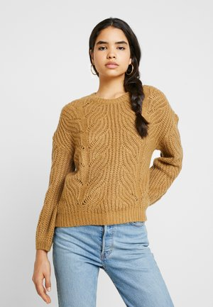 Pullover - dusty camel