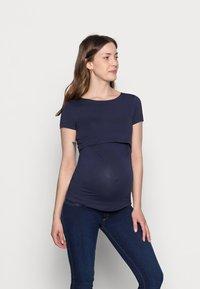 Anna Field MAMA - NURSING 2er PACK - Basic T-shirt - Camiseta básica - dark blue/black - 3