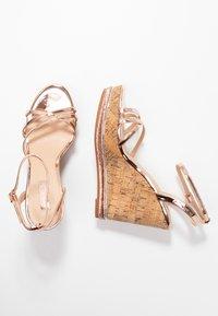 Office - HONCHO - Sandály na vysokém podpatku - rose gold - 3