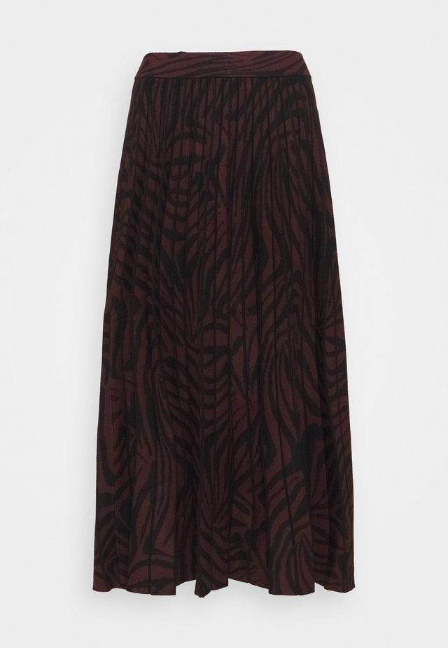 VIVIYNN - Áčková sukně - oxblood