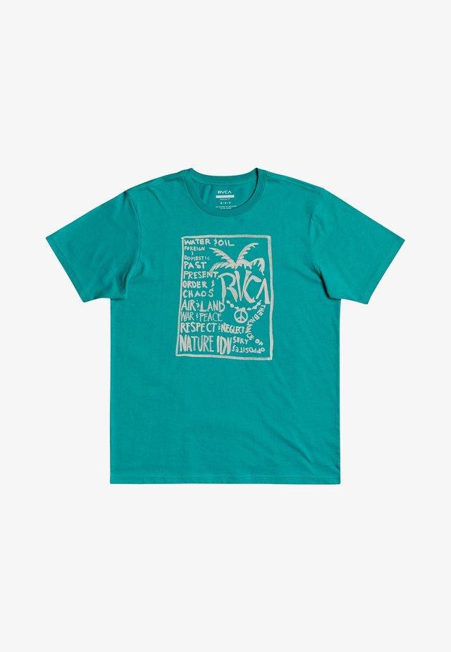 T-shirt med print - turquoise