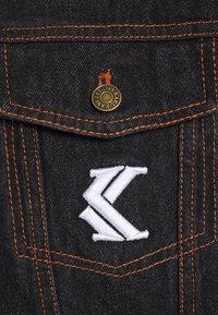 Karl Kani - TRUCKER - Džínová bunda - black - 2