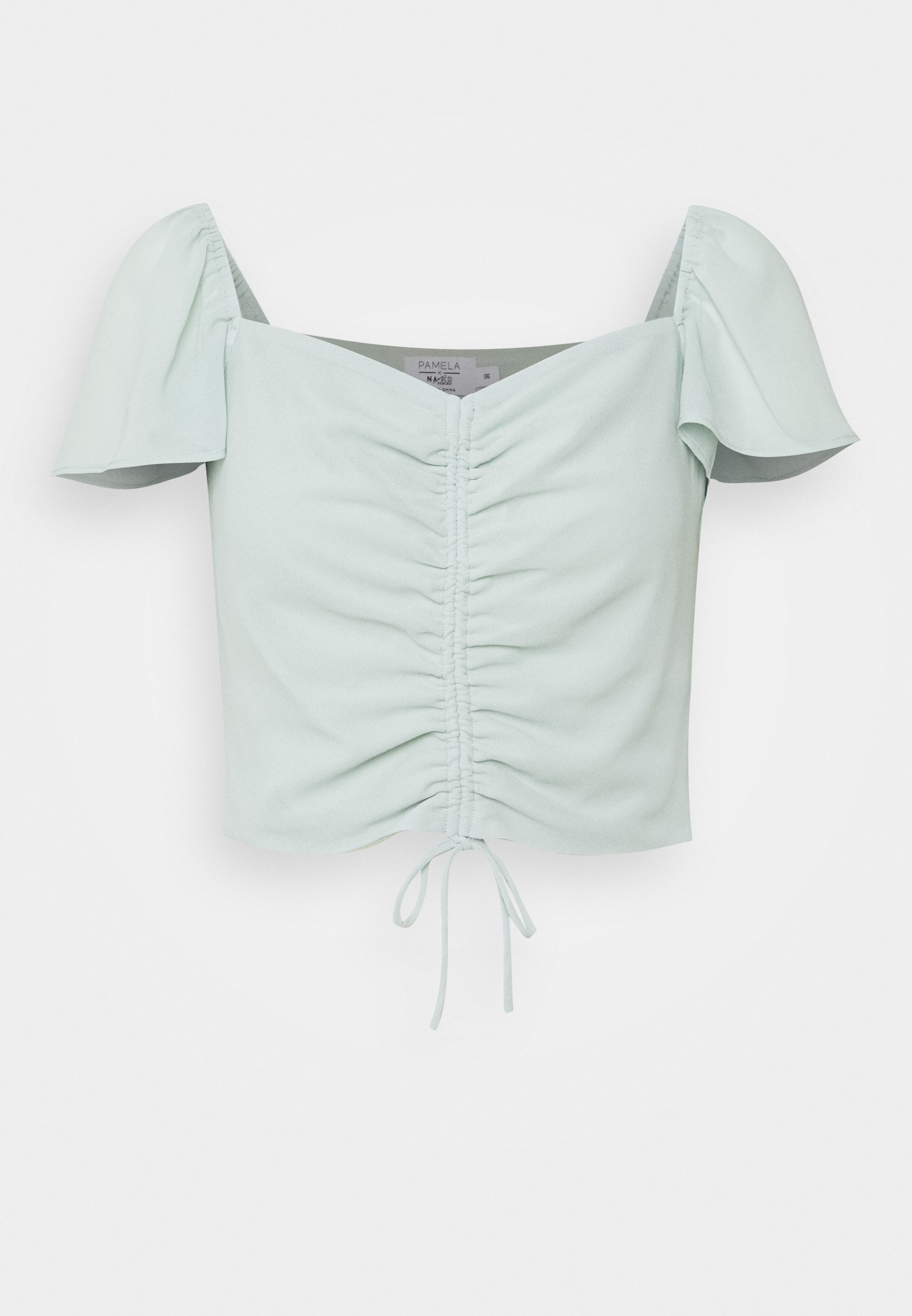 Donna FLOWY SLEEVE CROPPED BLOUSE - Camicetta