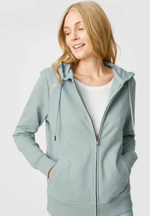 Sweater met rits - light turquoise