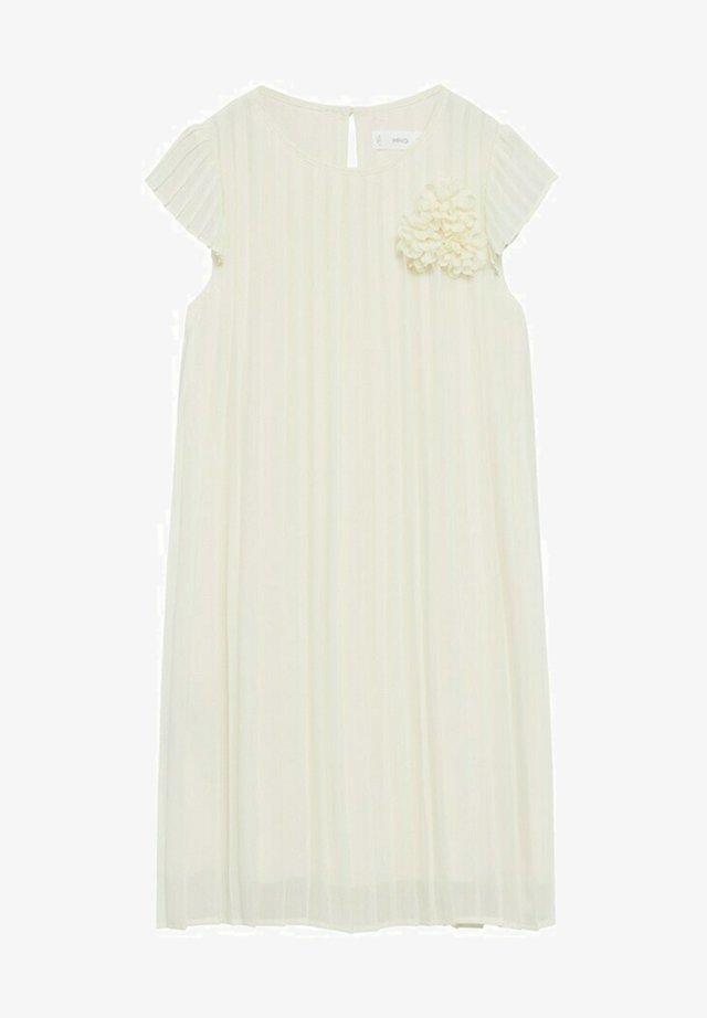 PLEAT8-A - Cocktail dress / Party dress - blanco roto