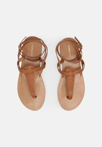Even&Odd Wide Fit - T-bar sandals - cognac - 4