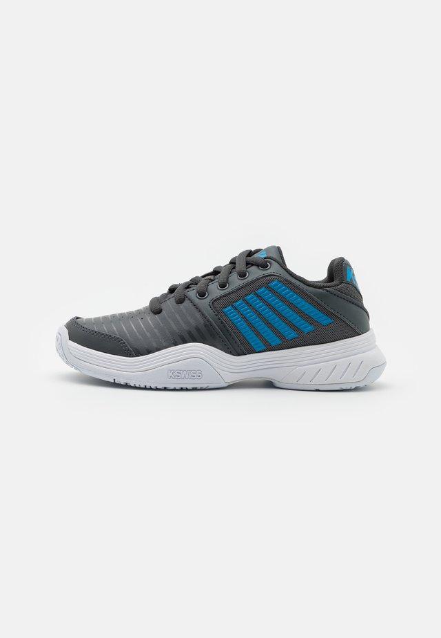 COURT EXPRESS OMNI UNISEX - Chaussures de tennis toutes surfaces - dark shadow/white/swedish blue