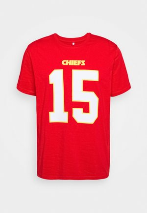 NFL PATRICK MAHOMES KANSAS CITY CHIEFS ICONIC NAME NUMBER GRAP - Klubové oblečení - red