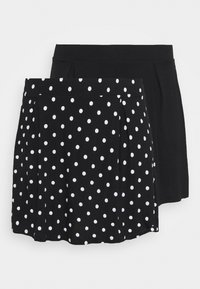 Even&Odd Curvy - 2 PACK - A-line skirt - black/white - 0