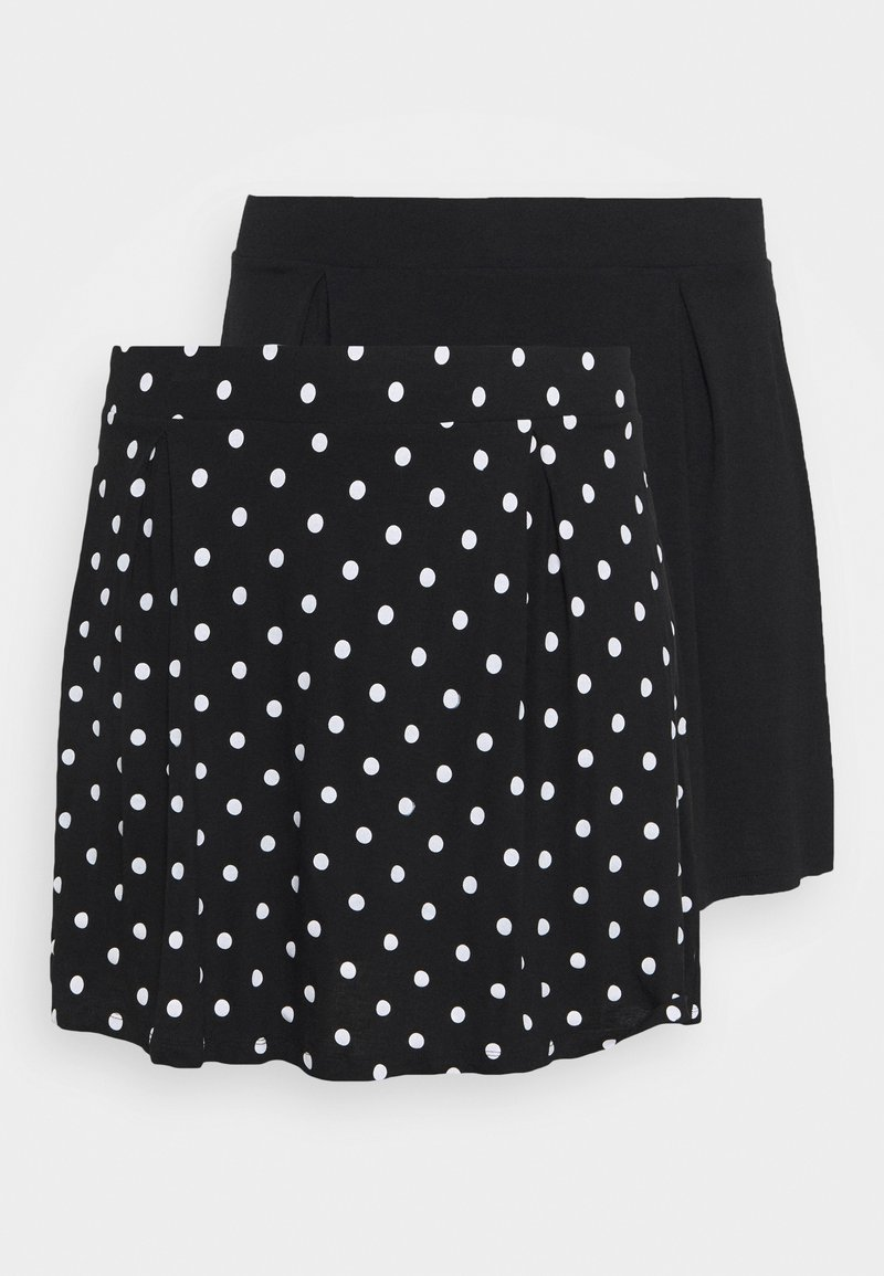 Even&Odd Curvy - 2 PACK - A-line skirt - black/white