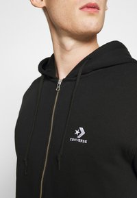 Converse - STAR CHEVRON EMBROIDERED - Zip-up hoodie - black - 4