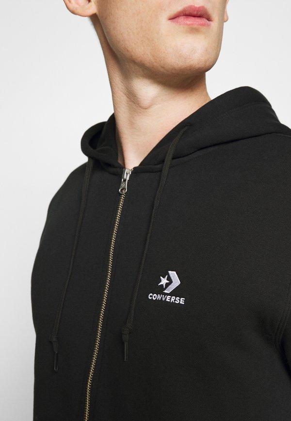 Converse STAR CHEVRON EMBROIDERED - Bluza rozpinana - black/czarny Odzież Męska XDSV
