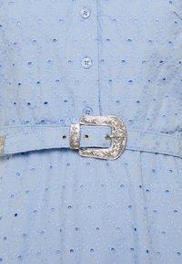 Lauren Ralph Lauren Petite - ROWEN SHORT SLEEVE DAY DRESS - Shirt dress - light sky blue - 2