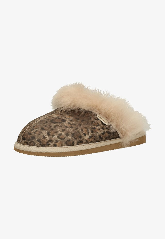 Slippers - brown leopard