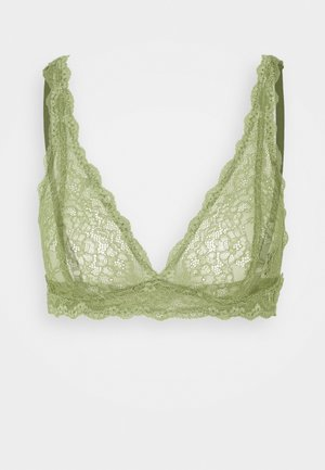 LONNIE BRA - Triangel BH - khaki/green medium dusty unique