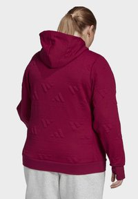 adidas Performance - AEROREADY JACQUARD FULL-ZIP LOGO HOODIE (PLUS SIZE) - Sudadera con cremallera - purple - 2
