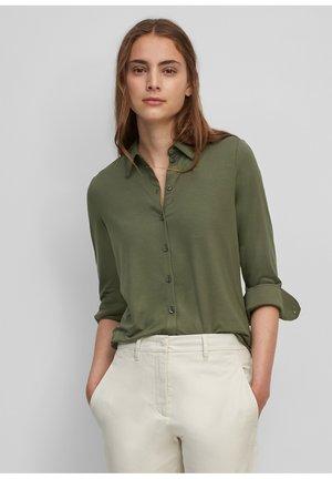 LONG SLEEVE, COLLAR, BUTTON PLACKET - Button-down blouse - fresh moss