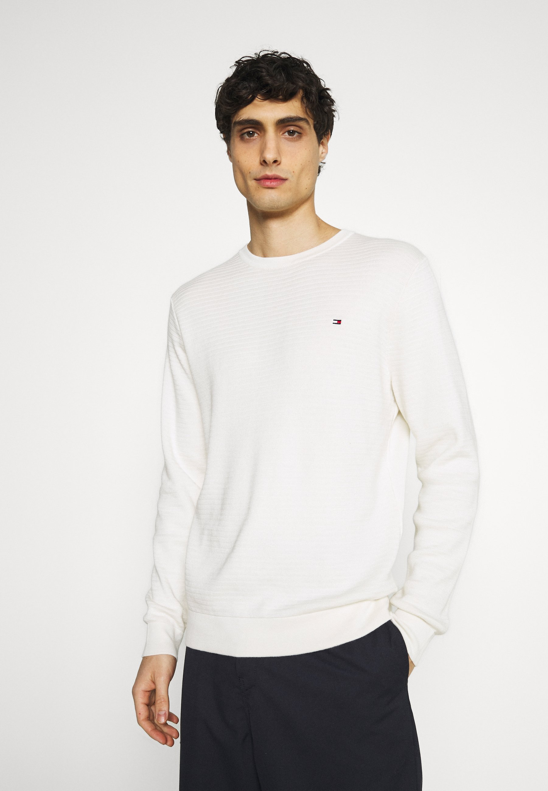 Homme ZIG ZAG STRUCTURE - Pullover