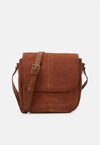 Zign - LEATHER - Across body bag - cognac - 0