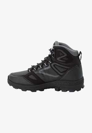 DOWNHILL TEXAPORE - Hiking shoes - black / grey