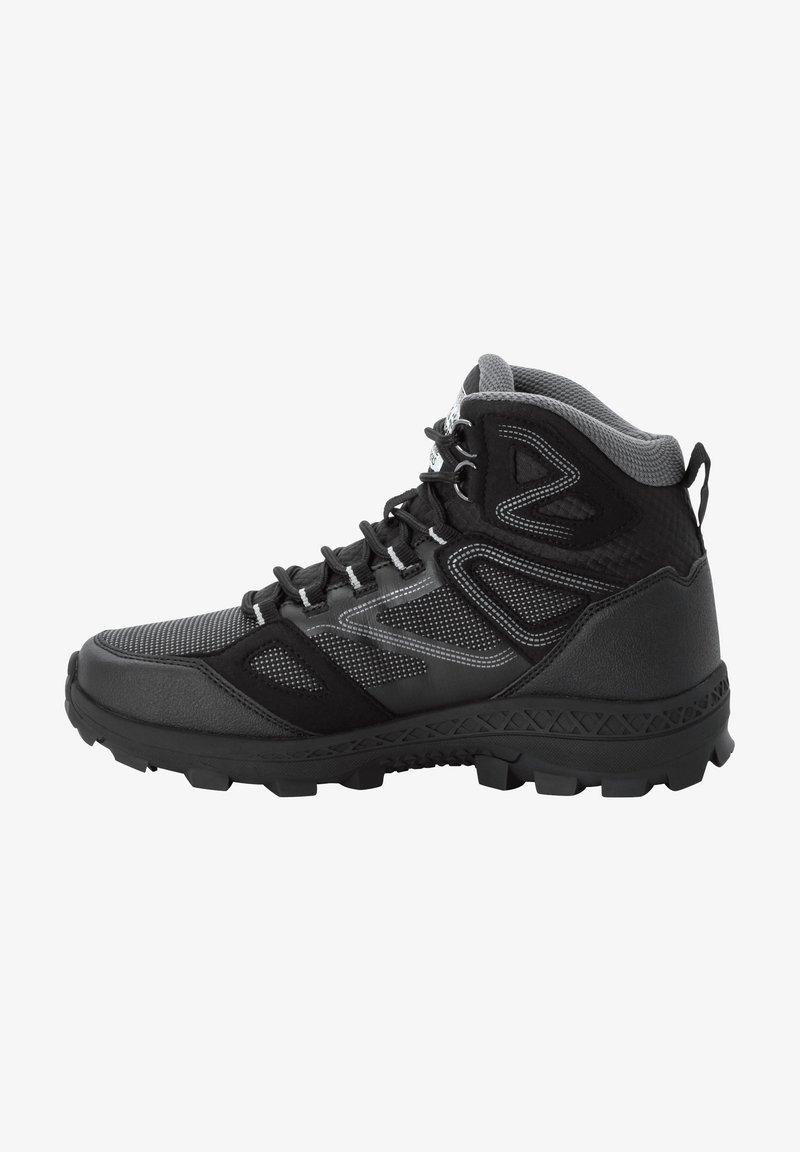 Jack Wolfskin - DOWNHILL TEXAPORE - Hiking shoes - black / grey