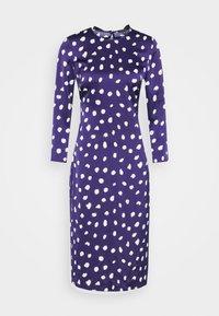Who What Wear - TRIPLE BOW DRESS - Denní šaty - navy - 3