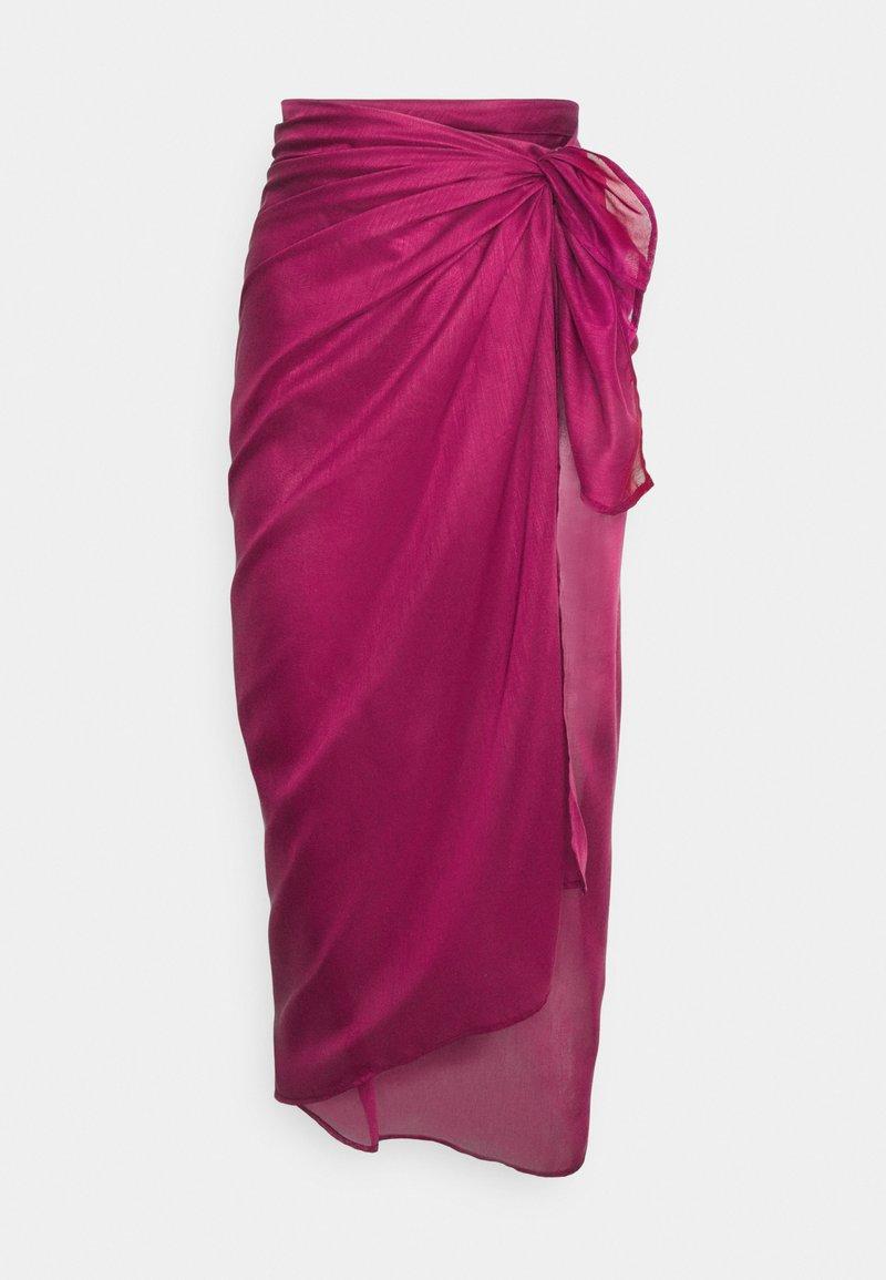 LASCANA - PAREO - Wrap skirt - dunkelbeere
