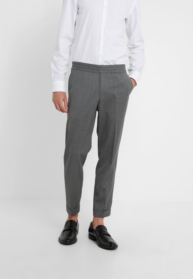 TERRY CROPPED PANTS - Pantaloni - grey melange