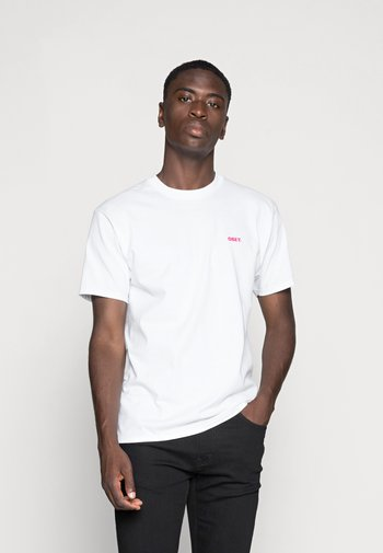OBEY BLOOD AND ROSES - Print T-shirt - white
