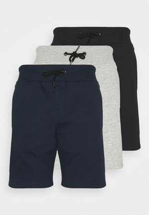 3 PACK - Shortsit - black/mottled light grey/dark blue