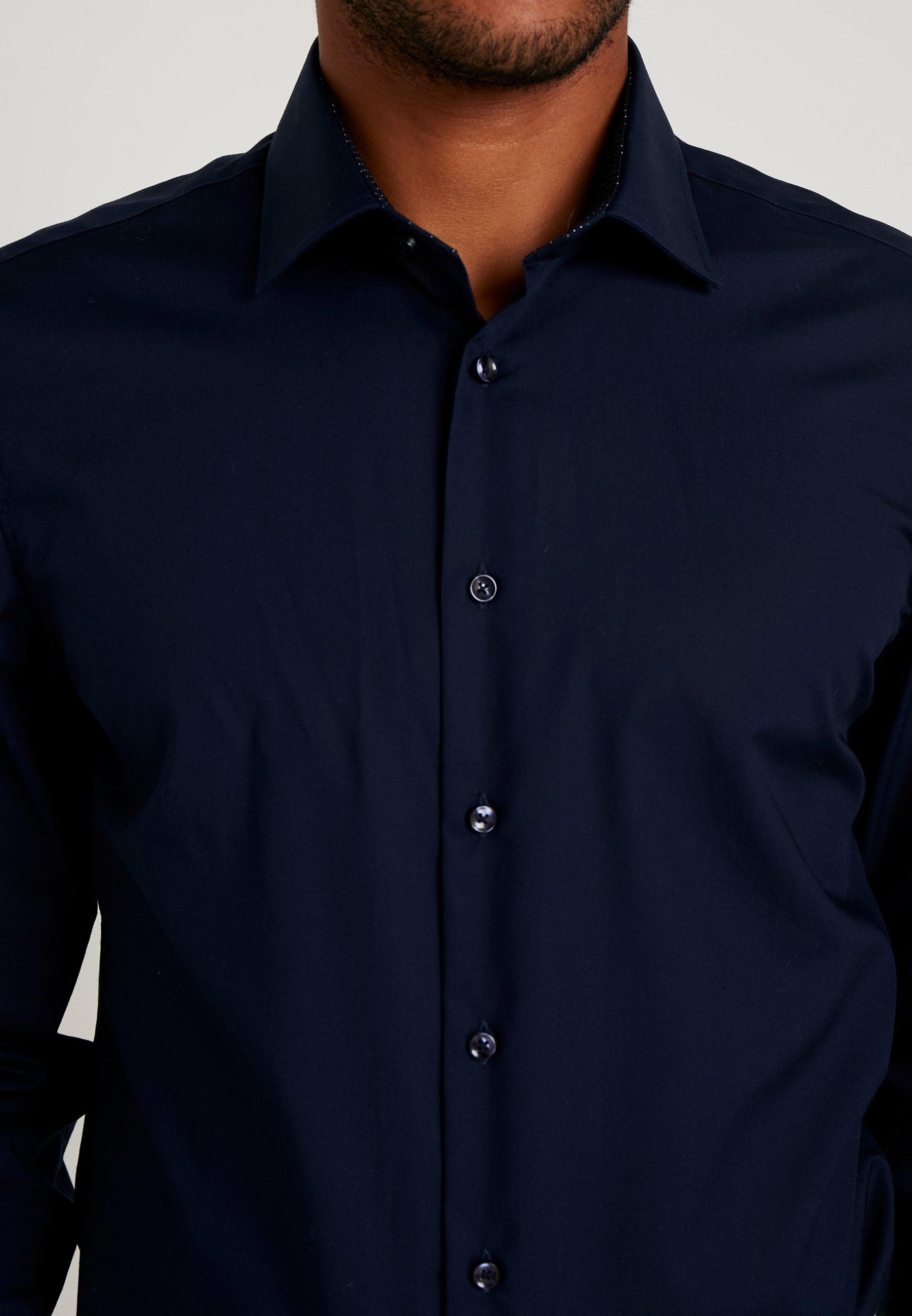 Seidensticker BUSINESS KENT PATCH SLIM FIT - Chemise classique - dark blue