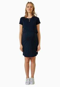 Vertbaudet - Jersey dress - blue - 1