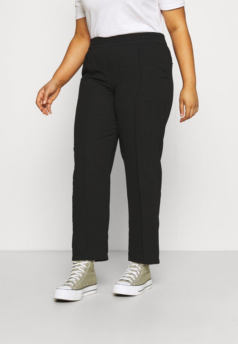 CAPSULE by Simply Be - PULL ON KAREN CREPE - Trousers - black