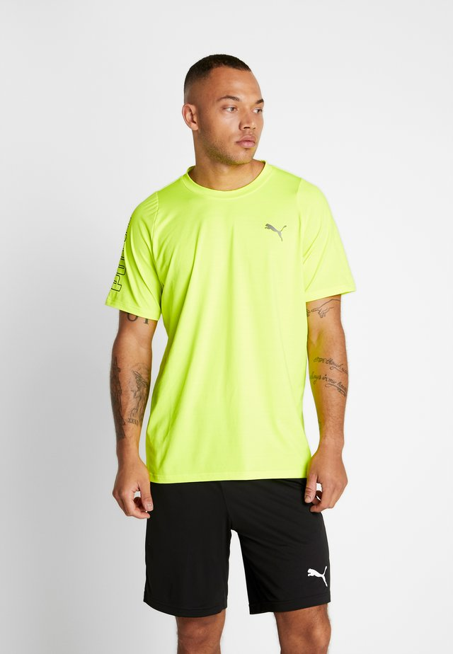 POWER THERMO R+ TEE - Print T-shirt - yellow alert