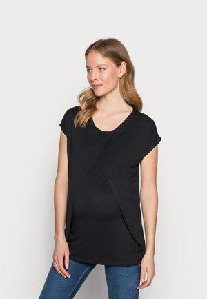 BASIC NURSING TOP - Print T-shirt - black