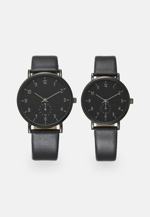 COUPLE WATCHES GIFT SET - Horloge - black