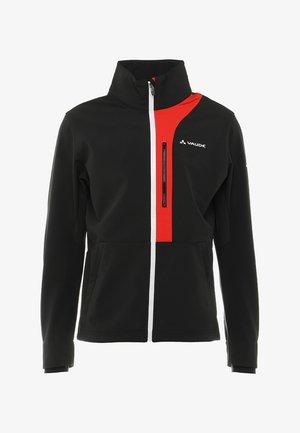 VIRT SOFTSHELL JACKET - Softshellová bunda - black/red