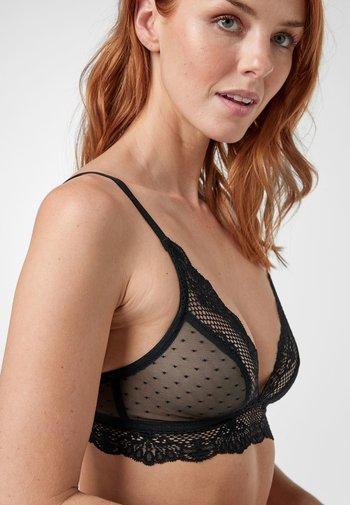 BLACK DAISY NON PADDED LACE BRALETTE - Triangle bra - black