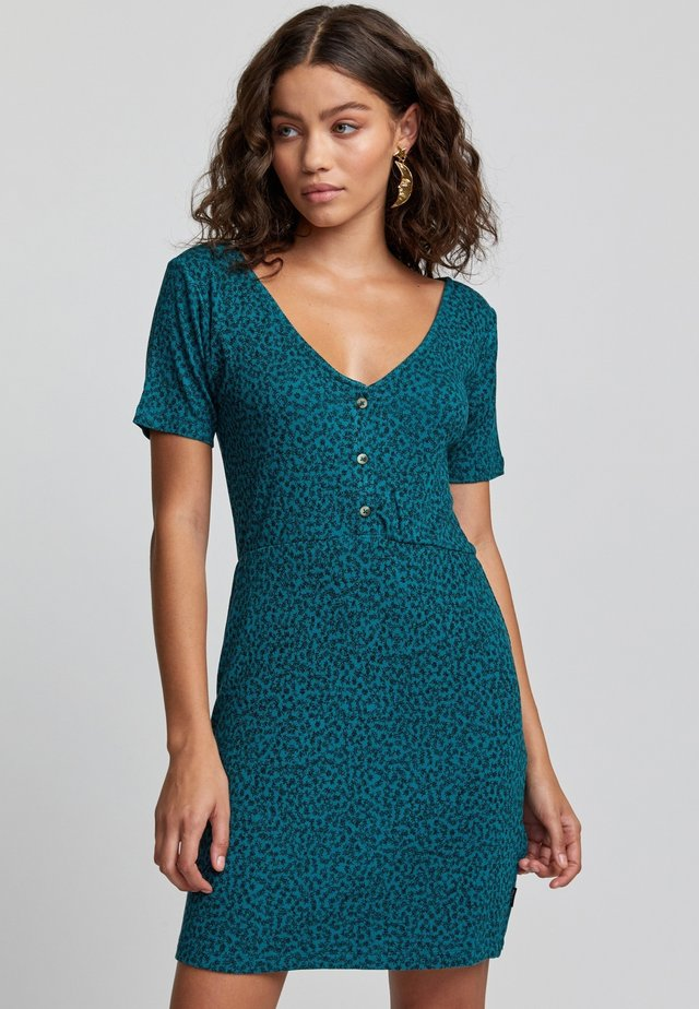 Korte jurk - storm green