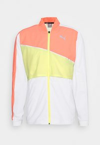Puma - RUN LITE ULTRA JACKET - Sports jacket - white/energy peach/fizzy yellow - 4