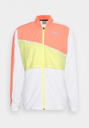 RUN LITE ULTRA JACKET - Juoksutakki - white/energy peach/fizzy yellow