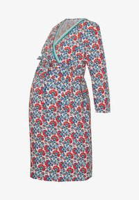 Balloon - DRESS WITH WRAP NECKLINE FLOWER PRINT - Denní šaty - blue/red - 4