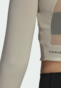 adidas Performance - CROP LONGSLEEVE - Longsleeve - beige - 4