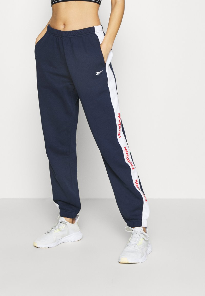 Reebok - LINEAR LOGO PANT - Trainingsbroek - dark blue