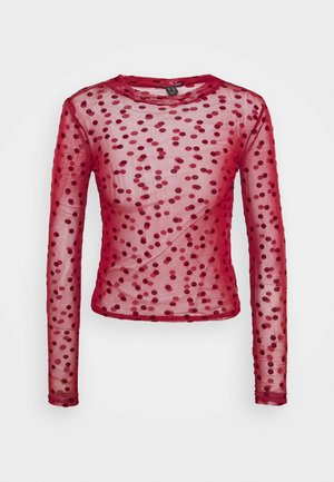 FLOCKED SPOT  - Longsleeve - dark burgundy