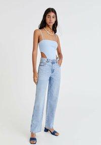 PULL&BEAR - Straight leg jeans - light blue - 1
