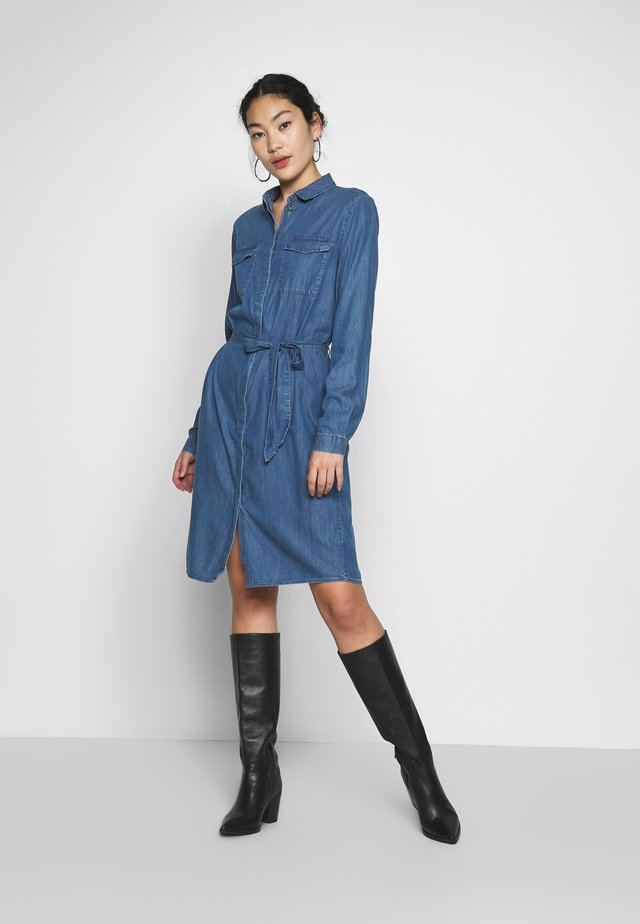 PCNISSA MIX DRESS CAMP - Day dress - dark blue denim